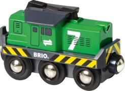 BRIO 33214000 Batterie Frachtlok, Kunststoff, ab 36 Monate - 7 Jahre