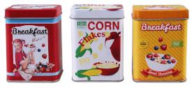 Tanner-Cornflakes Metall Dosen-Set