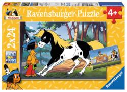 Ravensburger 088690  Puzzle Yakari und der kleiner Donner 2 x 24 Teile