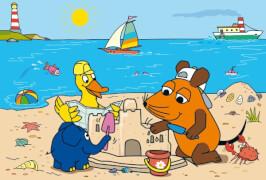Schmidt Puzzle 56212 Die Maus, Gute Freunde, 3x24 Teile, ab 3 Jahre