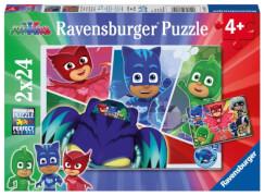 Ravensburger 078257 Puzzle: PJ Masks Abenteuer in der Nacht 2 x 24 Teile