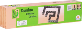 Natural Games Domino in Holzbox, 55 Steine