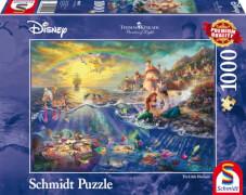 Schmidt Puzzle 59479 Thomas Kinkade, Disney, Kleine Meerjungfrau, Arielle,  1000 Teile, ab 12