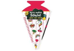 Schultüten-Kratzelbuch Funny Patches,pink  Hurra, endl.Schule!
