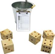 Riesen Würfelspiel, 5 Würfel, 50 Spielzettel