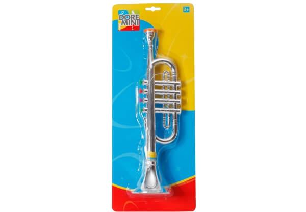 Doremini Trompete 38 cm silber 4 Töne